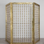 """""""Gabbiadorata""""  2012 432 chiavi di ottone del carcere di Rebibbia, 3 elementi  212x111 cm. cad."""