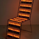 """""""Sedia"""" 2015 ferro, lampadine a fiamma"""