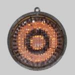 """""""Talismano"""" 2012 ferro, vetro e lampadine a fiamma Ø 77 cm"""